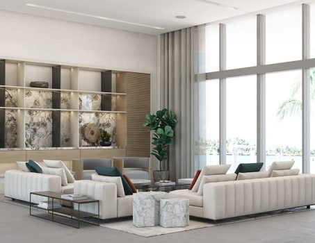 Golden Beach House - Living Room Design