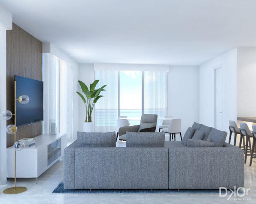 Miami Beach Luxury Interiors - Living Room