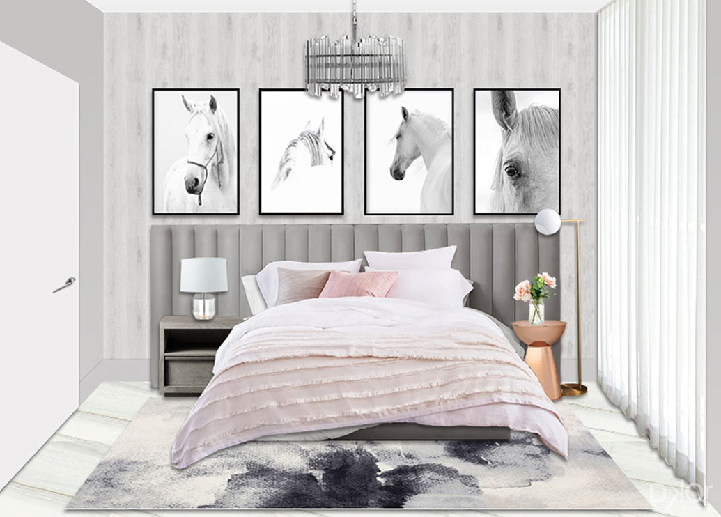 Bedroom Design Intent by DKOR Interiors