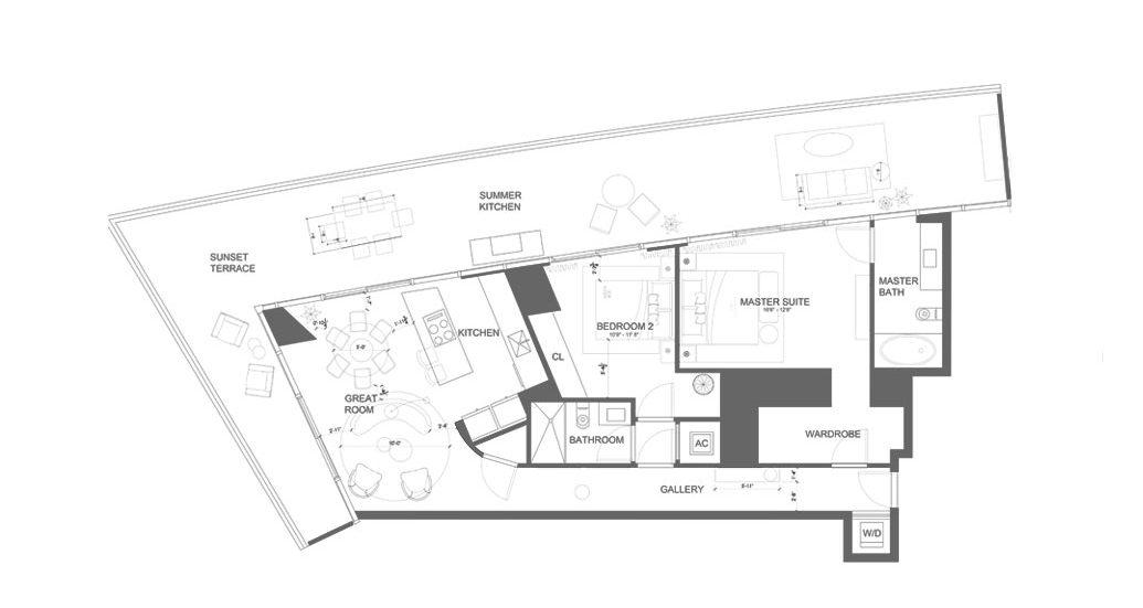 Armani Casa Condo Floor Plan
