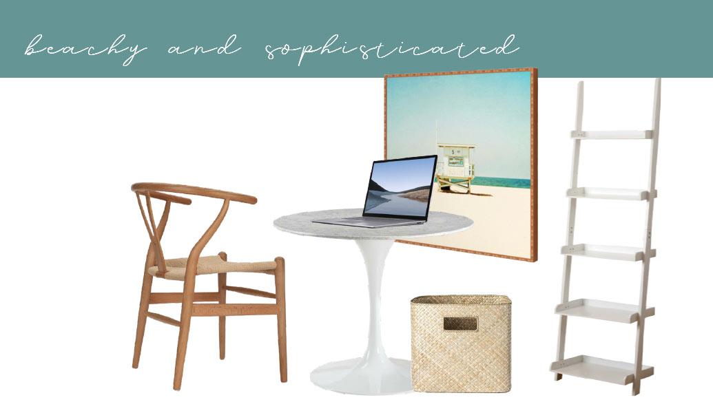 Home Office Setup Ideas Beachy Look
