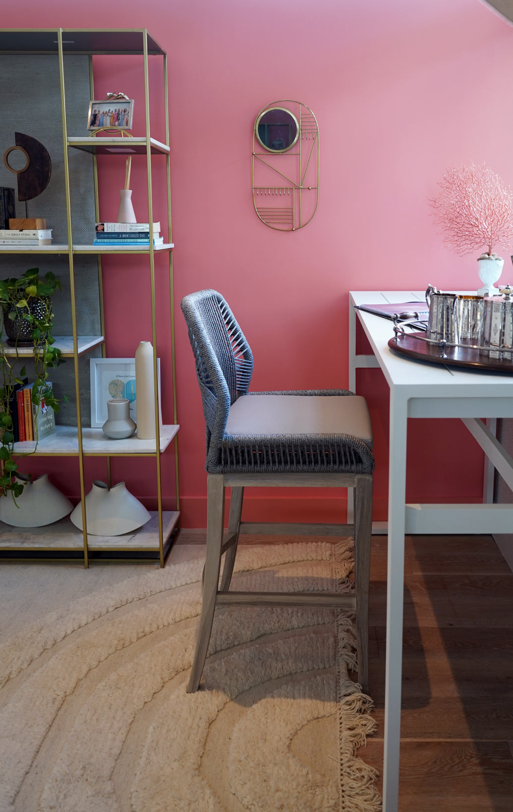 Creative Home Office With a Tropical Vibe by DKOR INTERIORS