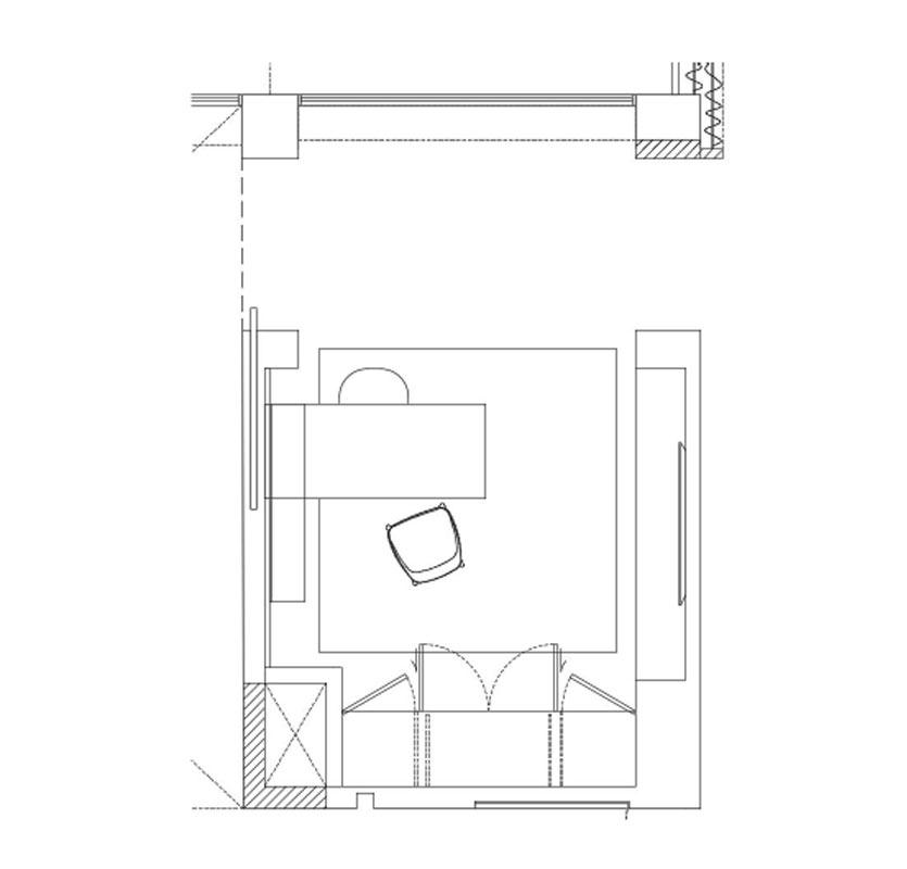 Modern Home Office Design - Floor Plan