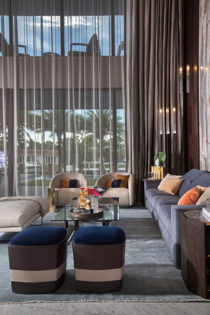 Hallandale New Construction - Living Room Design
