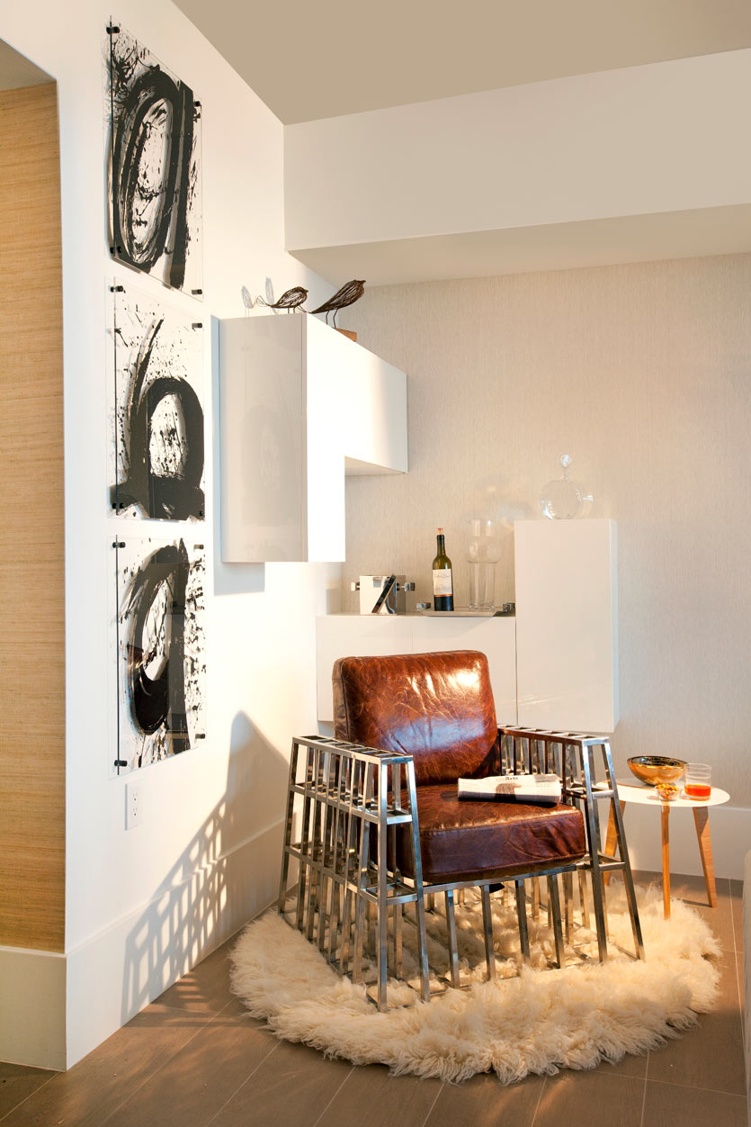 Mini Bar at Home with Statement Chair