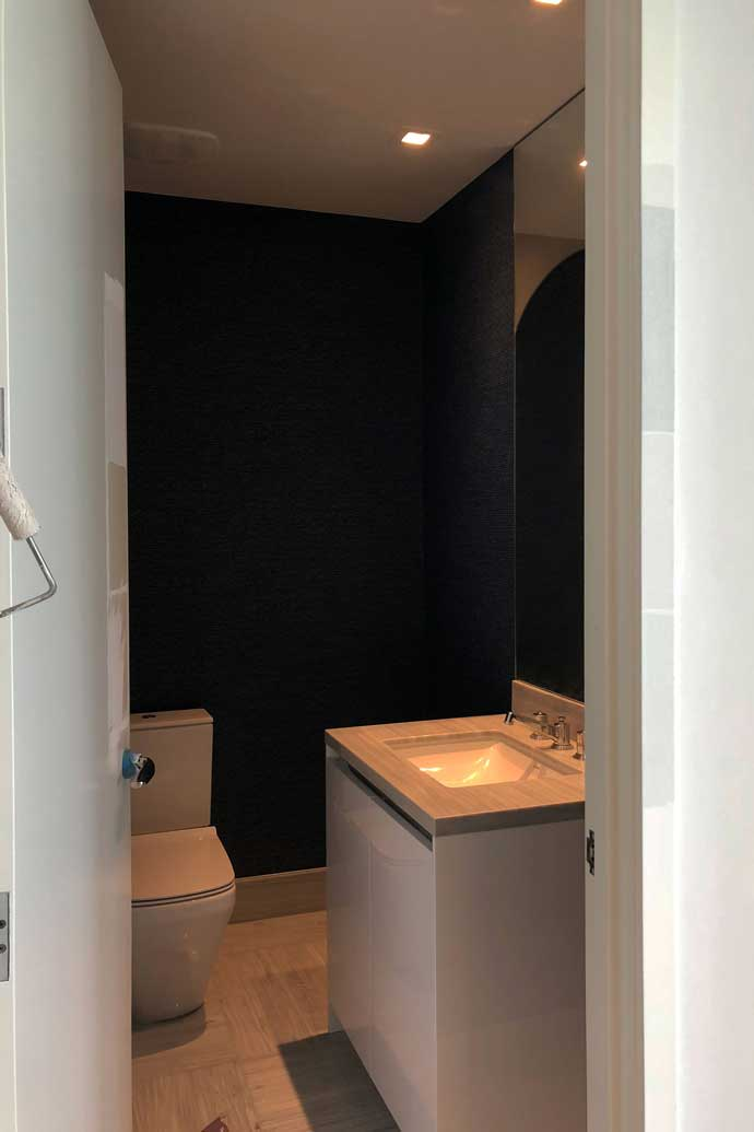 Sunny Isles Beachfront Condo Powder Room