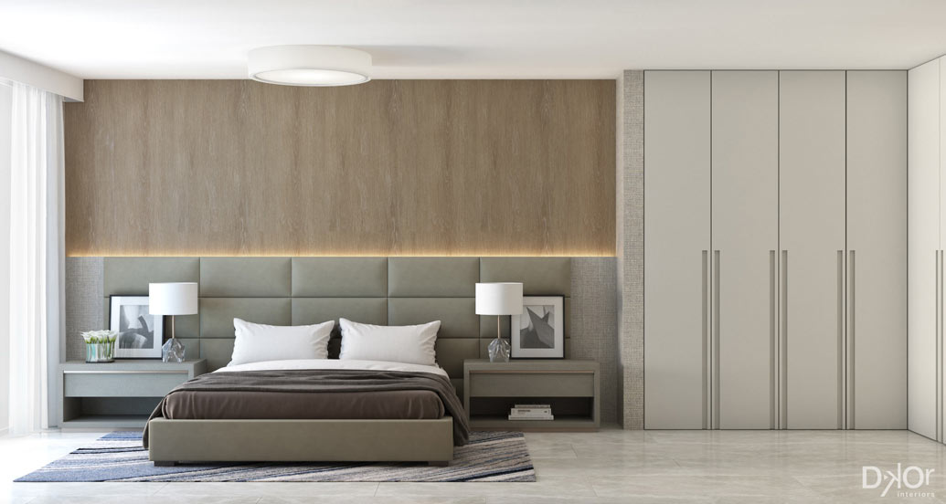 condo renovation bedroom rendering