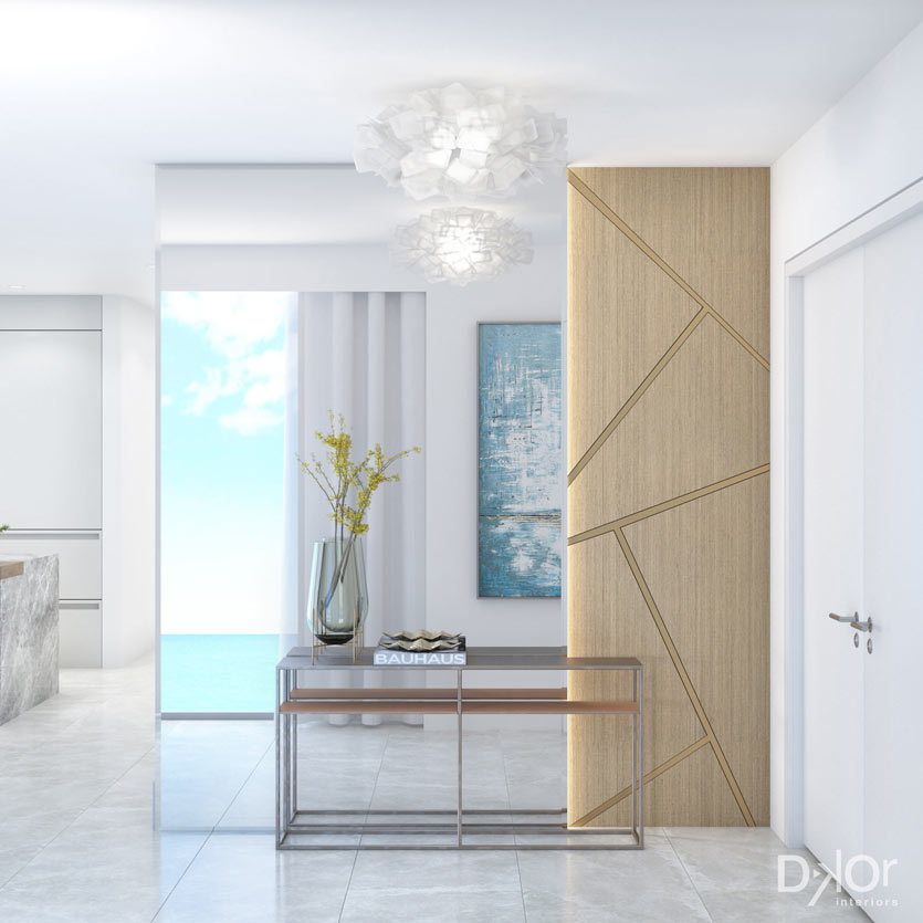 Condo Renovation Entry Foryer Rendering