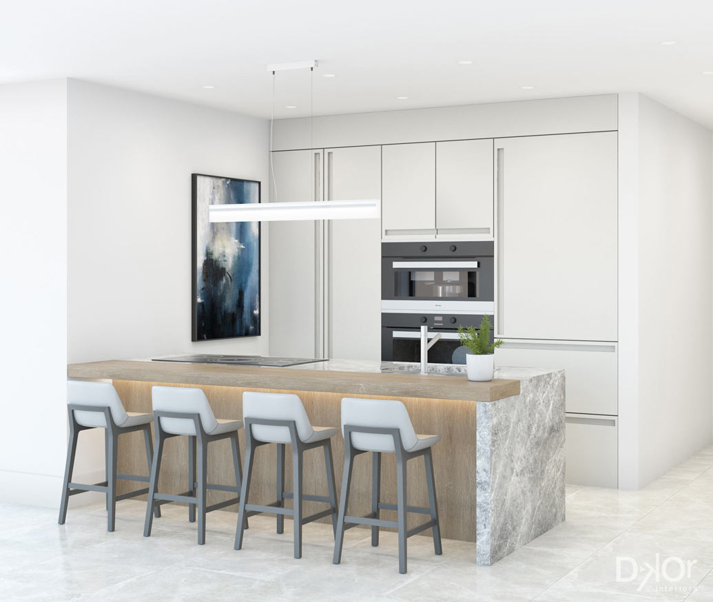 condo renovation kitchen rendering