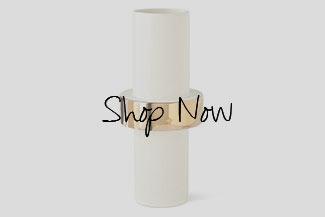 Global Views Low Golden Ring Vase