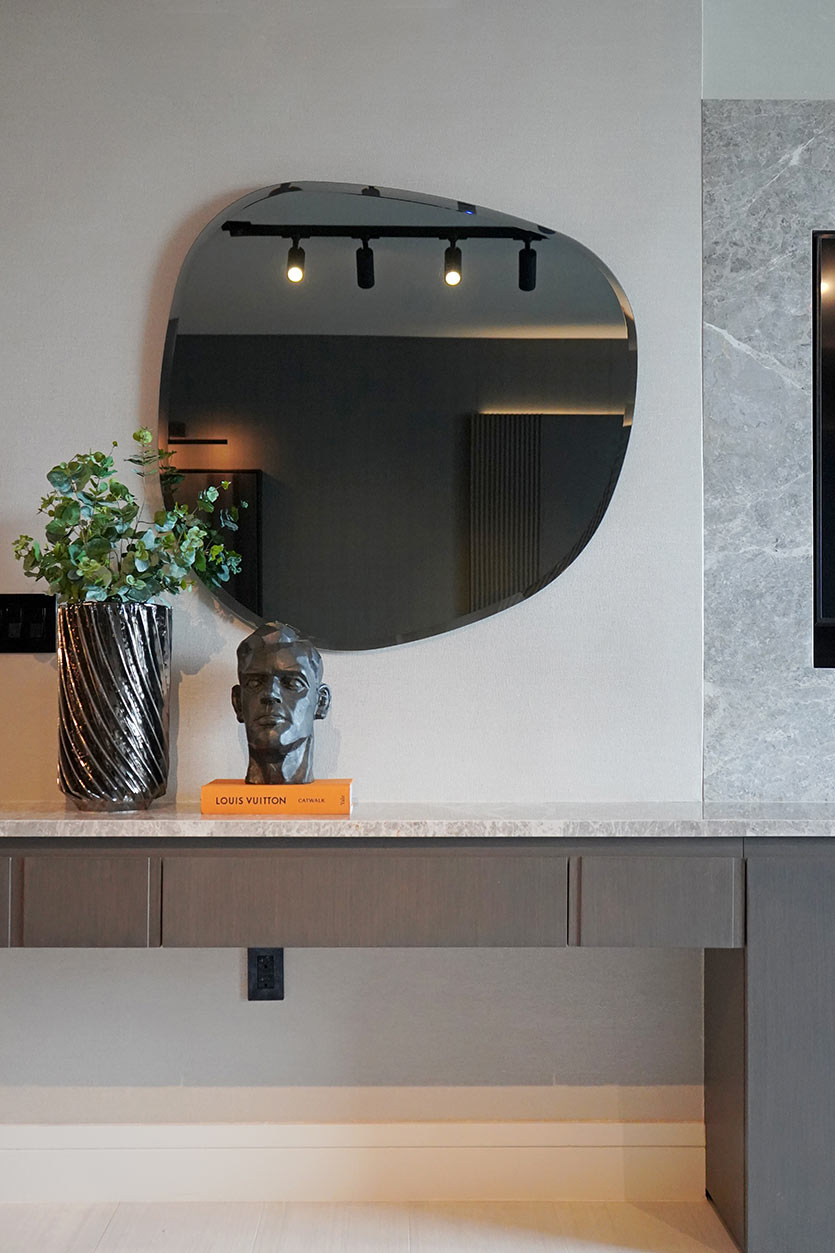 Custom TV Wall Design by DKOR Interiors